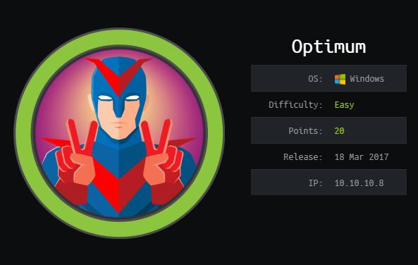 Optimum – HackTheBox Walkthrough
